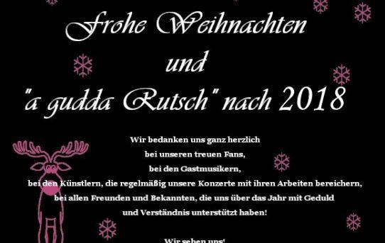 """Frohe Weihnachten und """"a gudda Rutsch"""""""
