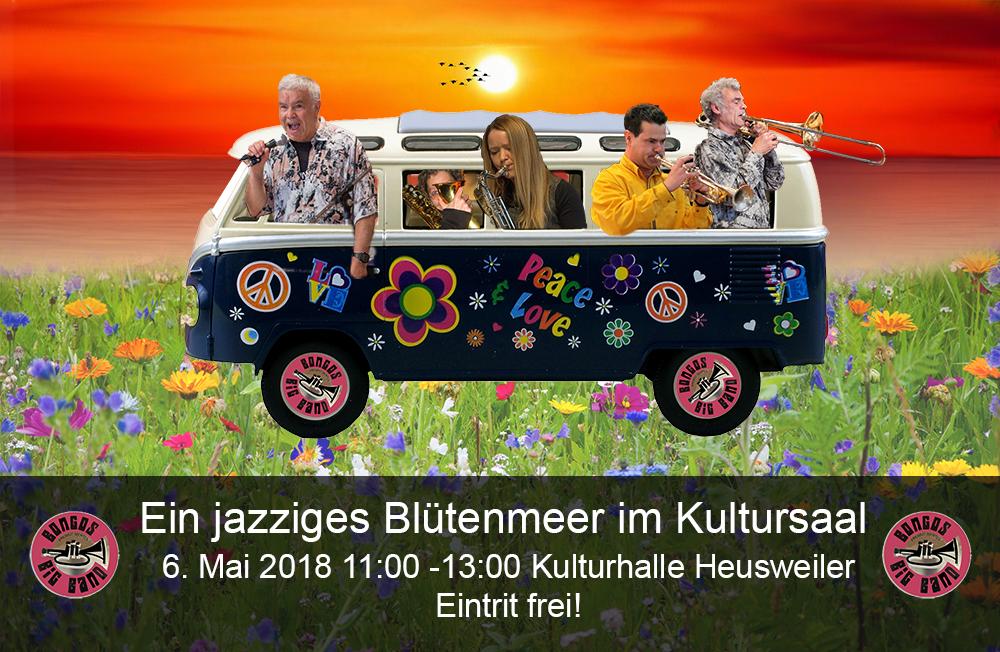 Bongos Bigband: 6. Mai 2018 ,Konzert in der Kulturhalle Heusweiler