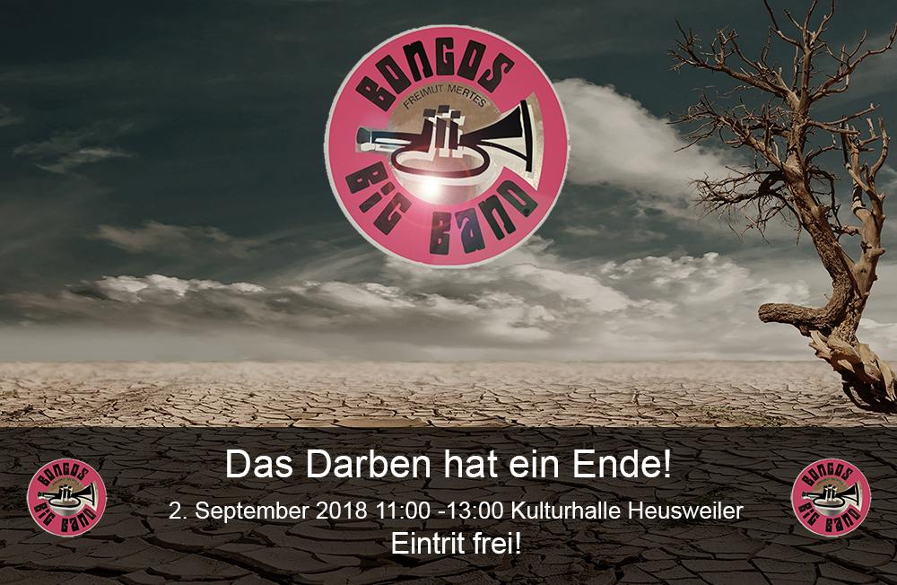 Bongos Bigband: 2. September 2018 ,Konzert in der Kulturhalle Heusweiler